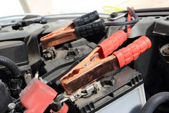 Charging battery car Royalty Free Stock Images