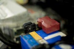 Charging battery of an electric car. Stock Photos