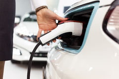 Charging battery of an electric car Stock Photos