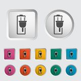 Charging the battery, single icon. Stock Image