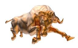 Charging bull Stock Photos