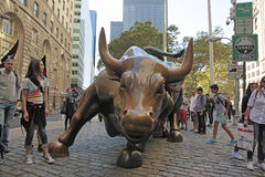 Charging Bull of Wall St., NYC Stock Photography