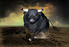 Charging Bull, Wall Stret Symbol Royalty Free Stock Photos