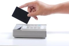 Charging credit card Royalty Free Stock Photography