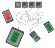 Charging devices Royalty Free Stock Images