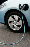 Charging of an electric car Royalty Free Stock Image