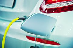Charging of an electric car Stock Photography