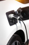 Charging electric car Royalty Free Stock Photography