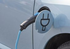 Charging an electric car Royalty Free Stock Photography