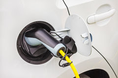 Charging of an electric car Stock Image