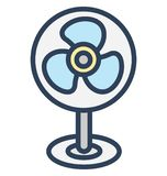 Charging fan, electric fan Isolated Vector Icon That can be easily edited in any size or modified. stock illustration