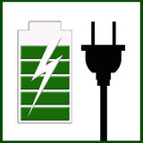 Charging. An indicator or a logo when a device is charging usually in devices like cellphone tablet and i pods Royalty Free Stock Images