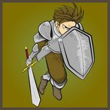 Charging Knight Royalty Free Stock Images