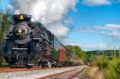 Charging locomotive stock image
