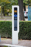 Charging point for electric vehicle. In a public place. The EV charger is installed in Strasbourg, France Stock Photos