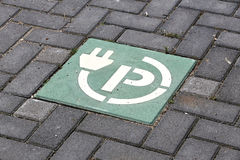 Charging point for electric vehicles Royalty Free Stock Photo