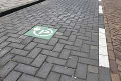 Charging point for electric vehicles Royalty Free Stock Photos