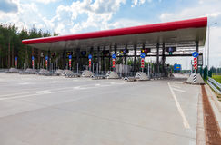 Charging point on the toll road. Russian highway number M11 Stock Images