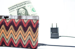 Charging purse Royalty Free Stock Photography