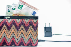 Charging purse Stock Photography
