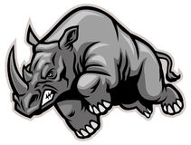 Charging rhino. Vector of Charging rhino suitable as a team mascot, print, sticker, t-shirt etc royalty free illustration