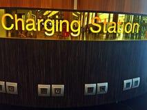 Charging station at airport terminal Royalty Free Stock Image