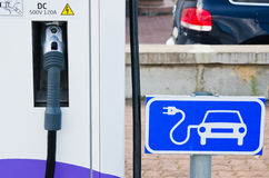 Charging station for electric cars Royalty Free Stock Photo