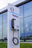 Charging station for electric cars Royalty Free Stock Images