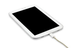 Charging Tablet pc isolated Stock Image