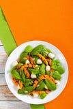 Chargrilled pumpkin, mini mozzarella and spinach salad Stock Photo