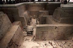 Chari antico delle Cine - città di Xian Fotografie Stock Libere da Diritti
