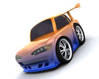 Charicature of japanese drift car Royalty Free Stock Images