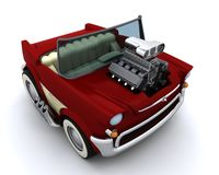 Charicature of supercharged 50's classic car Stock Image