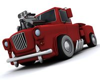 Charicature of supercharged 50's classic pickup Stock Image