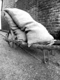 Old sand bags royalty free stock photography
