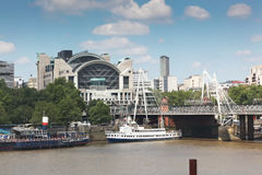 Charing Cross Bridge and Station Royalty Free Stock Photography