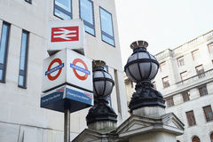 Charing Cross entrance Stock Images