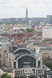 Charing Cross Station. View of Charing Cross station with the Telecom Tower in the background Royalty Free Stock Photos
