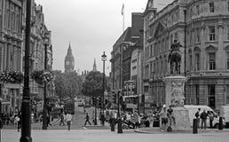 Charingskruis en Whitehall, Londen Stock Afbeeldingen