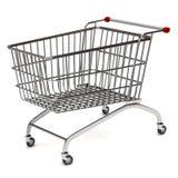 Chariot à achats en métal Image libre de droits