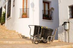 Chariot à balayeuse Photo stock