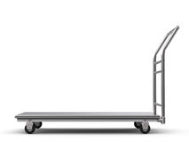 Chariot à entrepôt ou chariot à plate-forme Photo stock