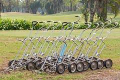 Chariot à golf manuel Images stock