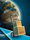 Chariot à la distribution Image libre de droits