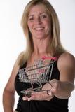 Chariot à supermarché Photo libre de droits