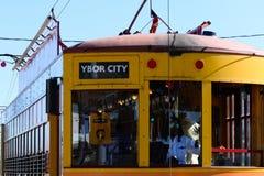 Chariot à ville de Ybor image stock