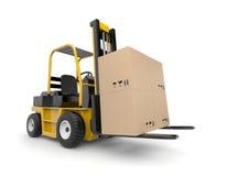 Chariot élévateur avec la cargaison Image stock