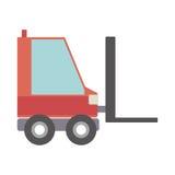 Chariot élévateur de silhouette avec des fourchettes Photographie stock libre de droits
