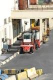 Chariot élévateur rouge photographie stock