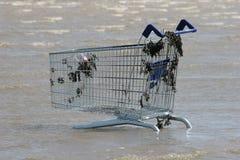 Chariot abandonné Images libres de droits